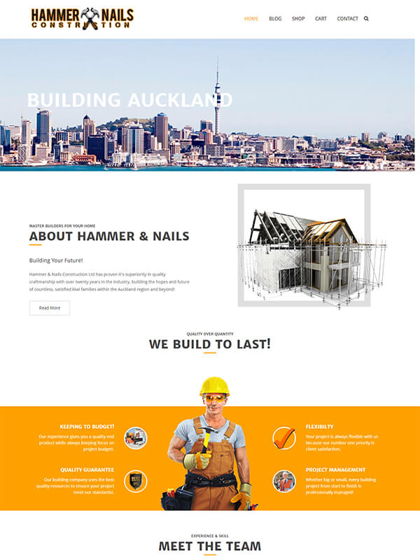 construction website for sale